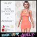 "RD - ""Alyx"" - Bare Shoulder Mini - Apricot"