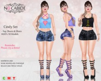 :: No Cabide & FLG : Cindy Set - Top-Short-Shoes HUDs 10 Models