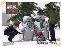 Snowman Family ♥ CHEZ MOI