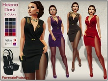 !FP! Helena Dark Dress HUD 5 Colors - Belleza Slink Hourglass Physique Maitreya Classic Avatar Omega Applier