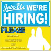 Hiring Hosts and Hostesses Djs Blue and Yellow