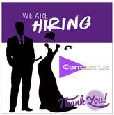 Hiring Hosts and Hostesses Djs Purple Black