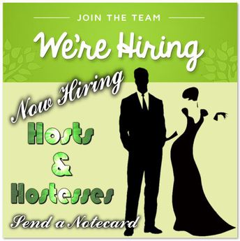 Hiring Hosts and Hostesses Lime Green