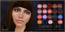.:Glamorize:. Cheeky Lips Tattoo Layers - 20 Colors