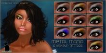 .:Glamorize:. Metal Mania Eye Makeup Tattoos - 10 Colors