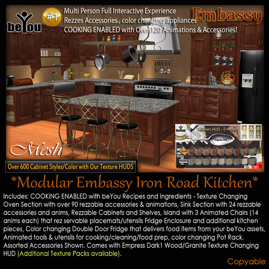 beYou Interactive Modular Embassy Iron Road Kitchen