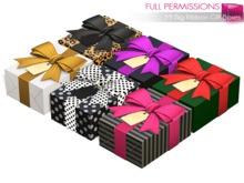 Full Perm Mesh Big Ribbon Gift Boxes 1LI Only