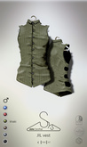 [sYs] JIL vest (Male body mesh) - khaki