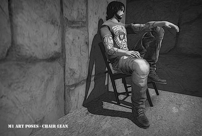 M1 Chair Lean (male sitting pose w/mirror)