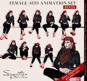 SEmotion Female Sits Set - 10 HQ BENTO Animations BUILDER's KIT Full permission