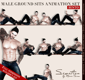 SEmotion Male Ground Sits Set - 10 HQ BENTO Animations Builder's Kit Full Permission