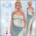 *Lurve* Trojan's Desire Gown - Turquoise - Maitreya - Belleza - Slink Fitmesh