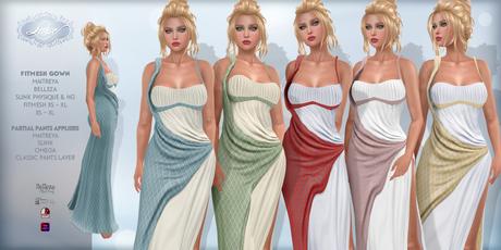 *Lurve* Trojan's Desire Gown - Phat Pack - Maitreya - Belleza - Slink Fitmesh