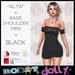"RD - ""Alyx"" - Bare Shoulder Mini - Black"