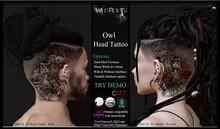 WR - Owl Head Tattoo
