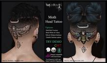 WR - Moth Head Tattoo