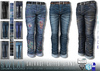 L&B - Mens - Cuffed Jeans - Salvage Denim