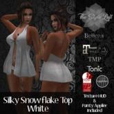 TSL - Silky Snowflake Top [White] w/HUD
