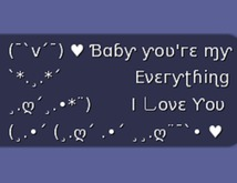 .:{ MG }:.  Baby You're My Everything, I Love You - Gesture