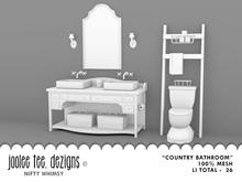 SUMMER SALE 50% OFF - Joolee Tee Builders - Country Bathroom Set
