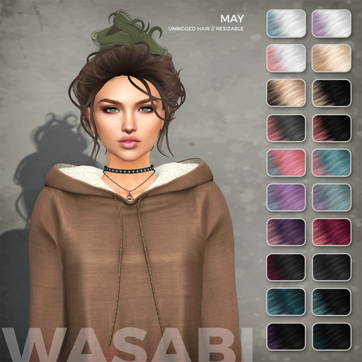 Wasabi // May Mesh Hair - Lunar Ombre