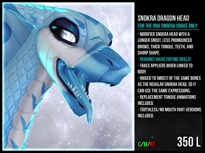 [M.O.R] snokra snake : DRAGON HEAD REPLACEMENT