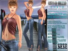Bella Moda: Cheto Crimson/Mid Blue Serene Outfit+Shoes: Maitreya/TMP/Physique/Hourglass/Isis/Venus/Freya+Std