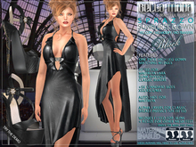 Bella Moda: Sprazzo Black Gown & Wedges Outfit - Fitted for Maitreya Lara/Slink Physique/Classic+Std Sizes