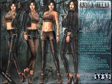Bella Moda: Malefico Black Malefic Outfit - Maitreya/TMP/Slink/Belleza+Std