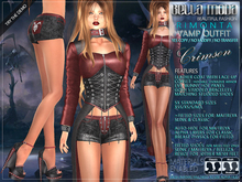 Bella Moda: Rimonta Crimson Vamp Outfit