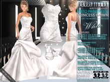 Bella Moda: Abito Principessa White Princess Gown/Mini-Dress/Shoes for Maitreya/Slink/Classic+Std