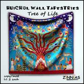 Zinnias Huichol Tree of Life Tapestry