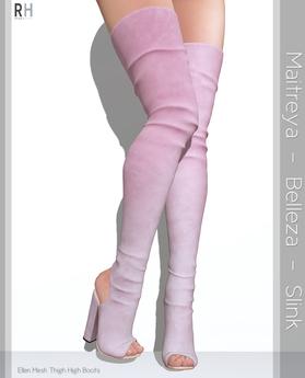 Ellen Mesh Thigh High Boots