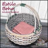 Zinnias Estilo Boho Basket