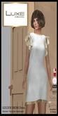 LUXE Paris GOLDEN SNOW Mini Dress