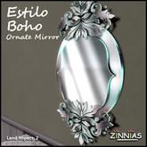 Zinnias Estilo Boho Ornate Mirror