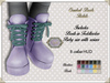 By Hanta - Cool Combat Boots - Pastels  with HUD
