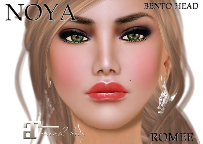 **NOYA** - ROMEE - Female Bento Head & Face  - incl Maitreya applier