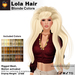 A&A Lola Hair Blonde Colors, long rigged mesh, motion activated