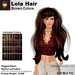 A&A Lola Hair Brown Colors, long rigged mesh, motion activated