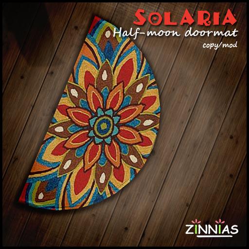 Zinnias Solaria half-Moon Doormat