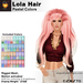 A&A Lola Hair Pastel Colors, long rigged mesh, motion activated