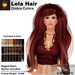 A&A Lola Hair Ombre Colors,  long rigged mesh, motion activated