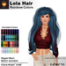 A&A Lola Hair Rainbow Colors, long rigged mesh, motion activated