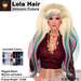 A&A Lola Hair Unicorn Colors, long rigged mesh, motion activated