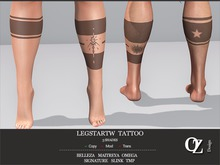 Oz Design : Tattoo LegStarTw