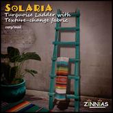 Zinnias Solaria Turquoise Ladder