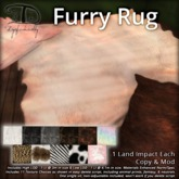 [DDD] Furry Rugs - Fuzzy Soft Mesh Rugs, 11 Texture Change Menu