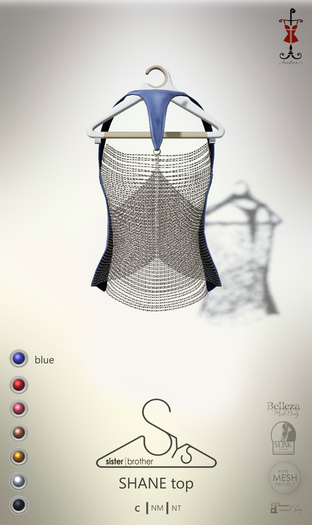 [sYs] SHANE top (body mesh) - blue GIFT <3