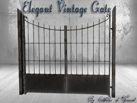 """CdT"" Elegant Vintage Gate"